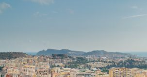 Cityscape of Cagliari, Italy, top view, timelapse. Cityscape of Cagliari, Italy top view, timelapse stock video