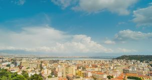 Cityscape of Cagliari, Italy, top view, timelapse. Cityscape of Cagliari, Italy top view, timelapse stock video footage
