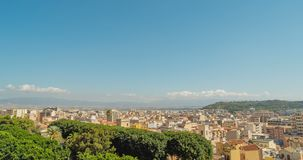 Cityscape of Cagliari, Italy, top view, timelapse. Cityscape of Cagliari, Italy, top view timelapse stock video footage