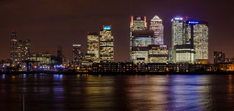 Cityscape Canary Wharf. Canary Wharf is a major business district located in Tower Hamlets, London. It is one of the United Kingdom's two main financial centres Royalty Free Stock Photos