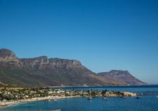 Cityscape of Cape Town at the Western Cape in South Africa. In summer royalty free stock photography