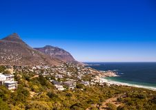 Cityscape of Cape Town at the Western Cape in South Africa. In summer royalty free stock photo