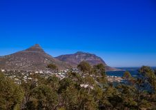 Cityscape of Cape Town at the Western Cape in South Africa. In summer stock photography