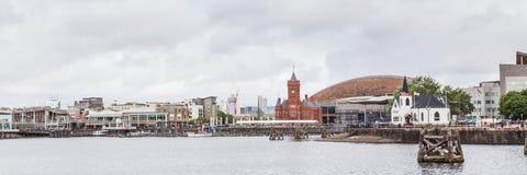Cityscape Cardiff, Wales, het UK royalty-vrije stock foto's