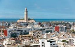Cityscape Casablanca. View over the city of Casablanca Royalty Free Stock Photo