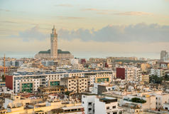 Cityscape Casablanca. View over the city of Casablanca Stock Photos