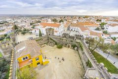 Cityscape with castel and cathedral, Beja, Alentejo, Portugal. Second Capital of Alentejo, Beja cityscape with castel and cathedral, Portugal Stock Photo