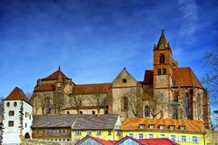 Cityscape of castle in Breisach am Rhein Schwarzwald germany. View of the old quarter of Breisach am Rhein Schwarzwald germany royalty free stock image