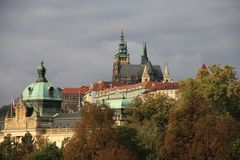 Cityscape Castle District in Prague Royalty Free Stock Photos