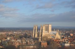 Cityscape cathedral  yorkminster  York England Stock Photos