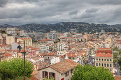 Cityscape of central Cannes, France. Cityscape of central Cannes during tungsten day before festival, France, Europe Stock Photography