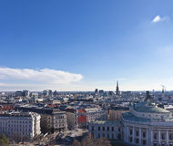 Cityscape of central Vienna with the St. Stephans Cathedral and Stock Photography