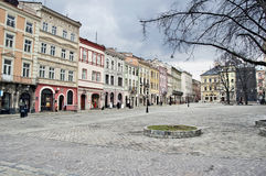 Cityscape of the centre of Lvov Royalty Free Stock Photography