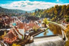 Cityscape of Cesky Krumlov, Czech republic. Royalty Free Stock Photography