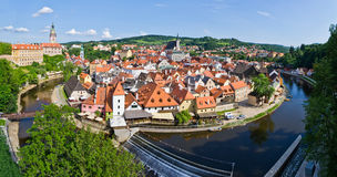 Cityscape of Cesky Krumlov ( UNESCO heritage list) Royalty Free Stock Image