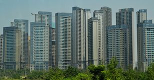 Cityscape of Chengdu, China royalty free stock images