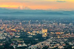 Cityscape of Chiang mai city, Thailand Stock Photography