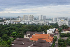 Cityscape. Chiangmai city urban view with buildings Royalty Free Stock Photos