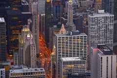 Cityscape Chicago. City of Chicago From Above. Architecture Photo Collection Stock Photo