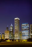 Cityscape of Chicago at the night time Royalty Free Stock Photo