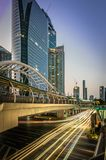 Cityscape of Chong Nonsi sky walk or Chong Nonsi bridge. royalty free stock photo