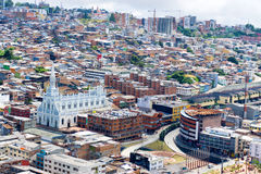 Cityscape and Church in Manizales Stock Images