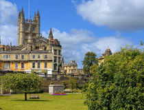Cityscape, city of Bath, Somerset, England Royalty Free Stock Images
