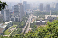 Cityscape of city Chongqing, China Royalty Free Stock Images