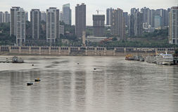 Cityscape of city Chongqing, China Royalty Free Stock Photography