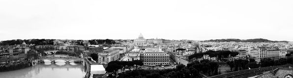 Cityscape of the city of Rome, Italy. Stock Images
