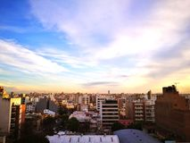 Cityscape. City scenario and sunset Royalty Free Stock Photography