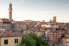 Cityscape of city Siena, Italy Stock Images