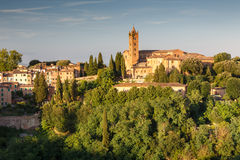 Cityscape of city Siena, Tuscany, Italy Stock Photos