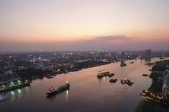 Cityscape. City sunset bangkok light wallpaper background stock images