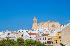 Cityscape of Ciutadella old town Royalty Free Stock Photo