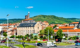 Cityscape of Clermont-Ferrand, a city in Central France stock photography