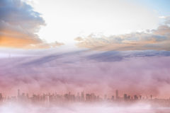 Cityscape in the clouds Stock Photo