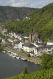 Cityscape of Cochem high view from the Castle with Mosel river. Royalty Free Stock Photography