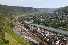 Cityscape of Cochem, historic German city Stock Images