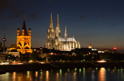 Cityscape of Cologne Royalty Free Stock Images