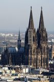 Cityscape of cologne with cologne cathedral royalty free stock images