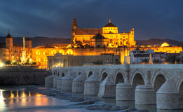 Cityscape of Cordoba at sunset Royalty Free Stock Photos