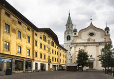 Cityscape Cortina dAmpezzo, Italy Royalty Free Stock Photos