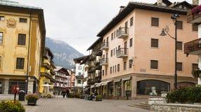 Cityscape Cortina dAmpezzo, Italy Stock Image