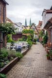 Cityscape. Courtyard and gardens in Berlin, Germany Stock Photo