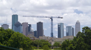Cityscape and Crane Royalty Free Stock Photography