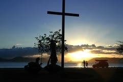 Cityscape Cross - Santos - Brazil royalty free stock image