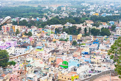 Cityscape of crowded Indian city Stock Photo