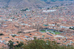 Cityscape of Cusco, Peru, from above Stock Photos