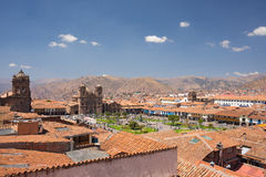 Cityscape of Cusco, Peru, with clear sky Royalty Free Stock Image